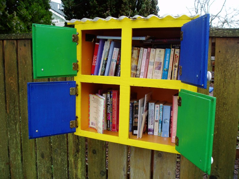 book sharing cupboard street library, book sharing, book exchange, public art, little free library, take a book, public art, Victoria, Vancouver Island, BC, Pacific Northwest