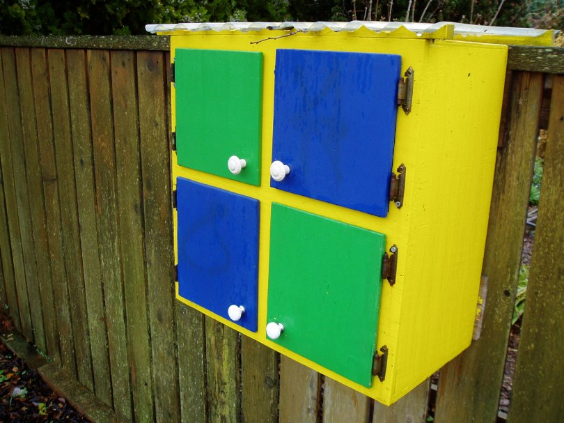 fence-line cupboard, Victoria, Vancouver Island, BC, Pacific Northwest