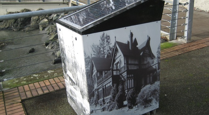 solar powered compactor 1, Victoria, Vancouver Island, BC, Pacific Northwest