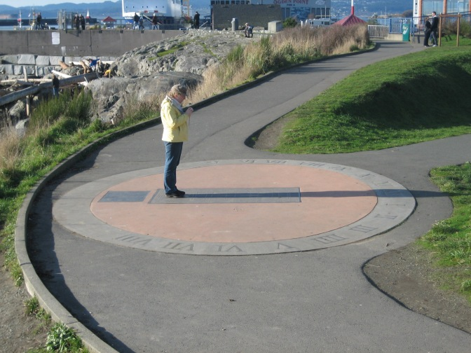 Interactive Sundial 1/4, Victoria, Vancouver Island, BC, Pacific Northwest
