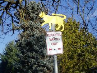 Clare Street pet crossing 1, public art, Victoria, Vancouver Island, BC, Pacific Northwest