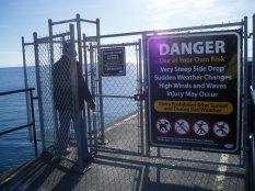Ogden Point entrance gate, Victoria, Vancouver Island, BC, Pacific Northwest