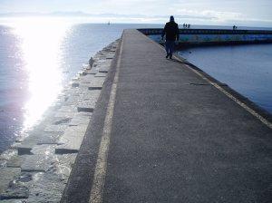 Ogden Point walking the edge