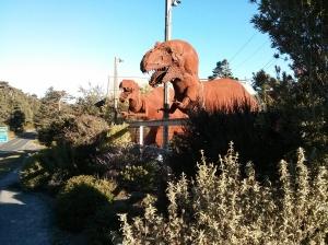 Iron Dog art in Gualala, California