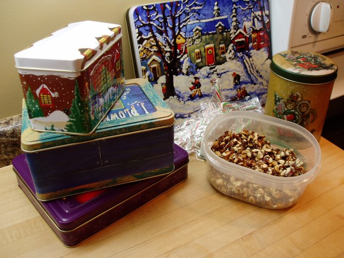 Christmas Tins & sprinkles