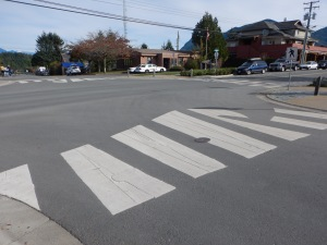 decorative crosswalk wave 2 Tofino BC pacific northwest