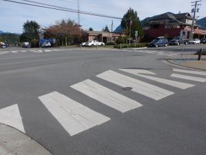 decorative crosswalk wave 2 Tofino BC pacific northwest