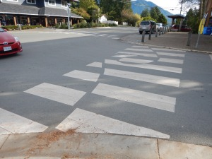 decorative crosswalk waves 1 Tofino BC pacific northwest