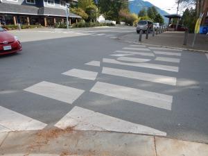 decorative crosswalk waves 1 Tofino BC pacific northwest