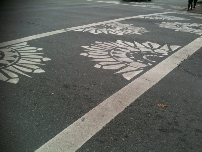 decorative crosswalk, Blanshard & Fort Street, Victoria BC pacific northwest