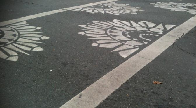 decorative crosswalk, Blanshard & Fort Street, Victoria BC pacific northwest