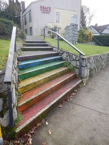 rainbow staircase near Fort & Moss in Victoria BC