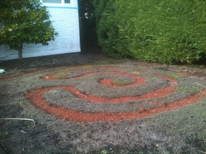 labyrinth meditation Oak Bay front yard maze garden Victoria BC Pacific Northwest