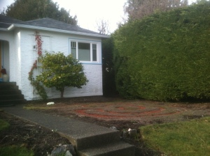 meditation labyrinth Oak Bay front yard maze 2 garden Victoria BC Pacific Northwest