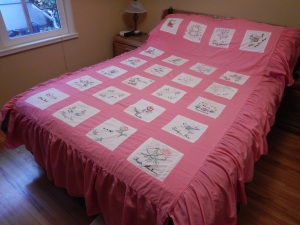 Silver Valley Ladies Club Canadian Centennial Friendship Bedspread