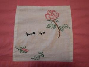 embroidery by Aganetha Dyck, Silver Valley Ladies Club Canadian Centennial Friendship Bedspread