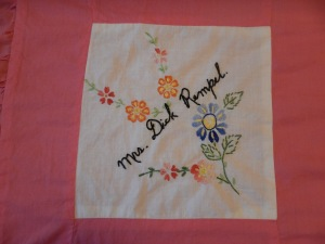 embroidery by Tina Remple, Silver Valley Ladies Club Canadian Centennial Friendship Bedspread