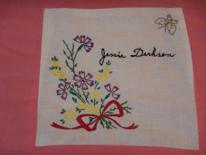 embroidery by Jessie Derksen, Silver Valley Ladies Club Canadian Centennial Friendship Bedspread