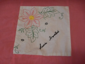 embroidery by Susie Frostad, Silver Valley Ladies Club Canadian Centennial Friendship Bedspread