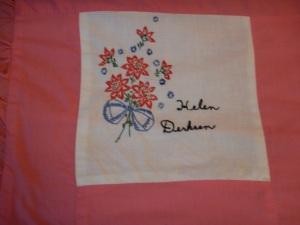 embroidery by Helen Derksen, Silver Valley Ladies Club Canadian Centennial Friendship Bedspread
