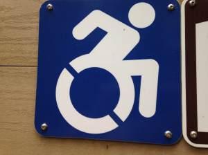 Accessibility Symbol Sign, Vancouver Island Island Victoria BC Pacific Northwest