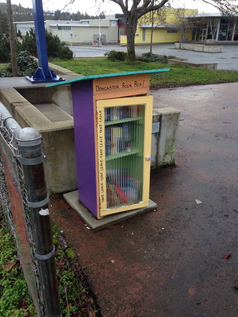 street library, book sharing, book exchange, public art, free little library, take a book, public art, Victoria, Vancouver Island, BC, Pacific Northwest
